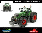 Rebuilt-Fendt-930-Vario--Extra-Brede-banden-+-spatborden-+-trekhaak-+-Zwaailampen-+-Antennes--1:32-WeiseToys