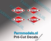 KUHN-logo-stickers-4x-3-mm-hoog--Pré-Cut-Decals-1:32-Farmmodels.nl