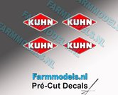 KUHN-logo-stickers-4x-4-mm-hoog--Pré-Cut-Decals-1:32-Farmmodels.nl