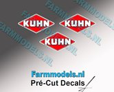 KUHN-logo-stickers-3x-5-mm-hoog--Pré-Cut-Decals-1:32-Farmmodels.nl