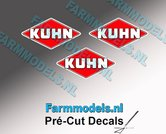 KUHN-logo-stickers-3x-6-mm-hoog--Pré-Cut-Decals-1:32-Farmmodels.nl