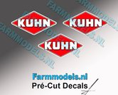 KUHN-logo-stickers-3x-7-mm-hoog--Pré-Cut-Decals-1:32-Farmmodels.nl