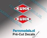 KUHN-logo-stickers-2x-8-mm-hoog--Pré-Cut-Decals-1:32-Farmmodels.nl