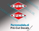 KUHN-logo-stickers-2x-10-mm-hoog--Pré-Cut-Decals-1:32-Farmmodels.nl