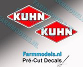 KUHN-logo-stickers-2x-14-mm-hoog--Pré-Cut-Decals-1:32-Farmmodels.nl