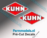 KUHN-logo-stickers-2x-16-mm-hoog--Pré-Cut-Decals-1:32-Farmmodels.nl