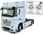 Mercedes-Benz-Actros-Bigspace-4x2-White-met-Free-Gift-Mercedes-(Silver-Shield)-Decals-1:32-MM1909-01