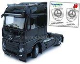 Mercedes-Benz-Actros-Bigspace-4x2-Black-met-Free-Gift-Mercedes-(Silver-Shield)-Decals-1:32-MM1909-02