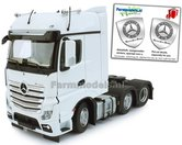 Mercedes-Benz-Actros-Bigspace-6x2-White-met-Free-Gift-Mercedes-(Silver-Shield)-Decals-1:32-MM1910-01