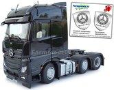 Mercedes-Benz-Actros-Bigspace-6x2-Black-met-Free-Gift-Mercedes-(Silver-Shield)-Decals-1:32-MM1910-02