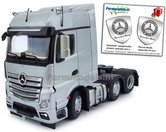 Mercedes-Benz-Actros-Bigspace-6x2-Silver-met-Free-Gift-Mercedes-(Silver-Shield)-Decals-1:32-MM1910-03