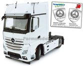 Mercedes-Benz-Actros-Gigaspace-4x2-White-met-Free-Gift-Mercedes-(Silver-Shield)-Decals-1:32-MM1911-01