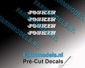 JOSKIN-OUDE-LOGO-WIT-4x-stickers-2.2-mm-hoog-Pré-Cut-Decals-1:32-Farmmodels.nl