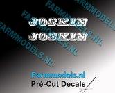 JOSKIN-OUDE-LOGO-WIT-2x-stickers-8-mm-hoog-Pré-Cut-Decals-1:32-Farmmodels.nl