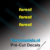 3x-forest-logo-GEEL-op-transparant-2.5-mm-hoog-Pré-Cut-Decals-1:32-Farmmodels.nl