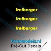 3x-freiberger-logo-GEEL-op-transparant-2.5-mm-hoog-Pré-Cut-Decals-1:32-Farmmodels.nl