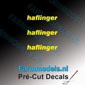 3x-haflinger-logo-GEEL-op-transparant-2.5-mm-hoog-Pré-Cut-Decals-1:32-Farmmodels.nl