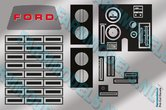 DASHBORD-FORD-9000-SCHAAL-1:16!!!-stickerset-Pré-Cut-Decals-1:32-Farmmodels.nl