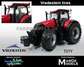 "Rebuilt:-TOTY-Case-IH-Optum-300-CVX-""tractor-of-the-year-2017""--Vredestein-Collectors-Edition-doos-+-Brede-Vredestein-banden-1:32--MargeModels"