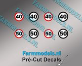 40-&-50-KM-Borden-stickers-Ø-6.6mm-Ø-7.3mm-Pré-Cut-Decals-1:32-Farmmodels.nl-super