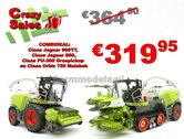 COMBISET-Claas-Jaguar-960TT-Claas-Jaguar-980-PU-300-Orbis-750-1:32-MargeModels-SUPER-SALES