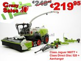 COMBISET-Claas-JAGUAR-960TT-Limited-Edition-met-Direct-Disc-520-en-aanhanger-1:32-MargeModels-Wiking---SUPERSALE