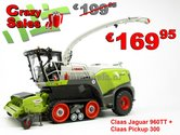 COMBISET-Claas-JAGUAR-960TT-Limited-Edition-met-PU-300-Graspickup-1:32-MargeModels--SUPERSALE