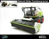 Rebuilt-COMBISET-Claas-Jaguar-980-op-brede-Trelleborg-banden-met-Direct-Disc-520-en-aanhanger-1:32-MM1914-RCOMBI