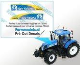 New-Holland-T6020-type-stickers-voor-NH-T6080-motorkap-van-UH-Pré-Cut-Decals-1:32-Farmmodels.nl