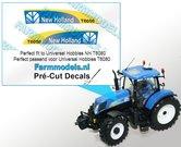 New-Holland-T6050-type-stickers-voor-NH-T6080-motorkap-van-UH-Pré-Cut-Decals-1:32-Farmmodels.nl