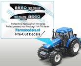 New-Holland--FORD-8560-type-stickers-voor-o.a.-NH-8360-Replicagri-motorkap-Pré-Cut-Decals-1:32-Farmmodels.nl