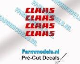 CLAAS-stickers-ROOD-op-transparante-folie-2-mm-hoog-Pré-Cut-Decals-1:32-Farmmodels.nl
