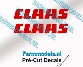 CLAAS-stickers-ROOD-op-transparante-folie-6-mm-hoog-Pré-Cut-Decals-1:32-Farmmodels.nl