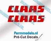 CLAAS-stickers-ROOD-op-transparante-folie-7-mm-hoog-Pré-Cut-Decals-1:32-Farmmodels.nl