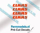 CLAAS-stickers-ORANJE-op-transparante-folie-2-mm-hoog-Pré-Cut-Decals-1:32-Farmmodels.nl