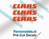CLAAS-stickers-ORANJE-op-transparante-folie-4-mm-hoog-Pré-Cut-Decals-1:32-Farmmodels.nl