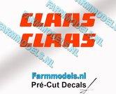 CLAAS-stickers-ORANJE-op-transparante-folie-5-mm-hoog-Pré-Cut-Decals-1:32-Farmmodels.nl