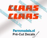 CLAAS-stickers-ORANJE-op-transparante-folie-6-mm-hoog-Pré-Cut-Decals-1:32-Farmmodels.nl