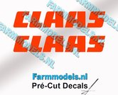 CLAAS-stickers-ORANJE-op-transparante-folie-8-mm-hoog-Pré-Cut-Decals-1:32-Farmmodels.nl