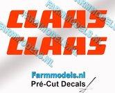 CLAAS-stickers-ORANJE-op-transparante-folie-10-mm-hoog-Pré-Cut-Decals-1:32-Farmmodels.nl