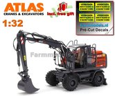 Atlas-160W-mobiele-kraan-+-NOKIAN-banden-+-Atlas-bak-+-GRATIS-stickerset--1:32--AT3200150--EXPECTED