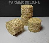 78640-4x-ronde-balen-met-echt-Stro-Ø-48-mm-gedetaileerd-net-echt-1:32