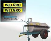 WELGRO-logo-oud-5-mm-hoog-stickers-Pré-Cut-Decals-ZWART-op-GELE-folie-1:32-Farmmodels.nl