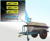 Wellink-logo-oud-5-mm-hoog-stickers-Pré-Cut-Decals-ZWART-op-GELE-folie-1:32-Farmmodels.nl