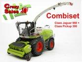 COMBISET-Claas-Jaguar-980-met-PU-300-Graspickup-1:32-MargeModels-MM1913-14---SUPERSALE