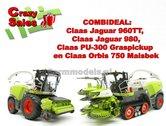 COMBISET-Claas-Jaguar-960TT-Claas-Jaguar-980-PU-300-Orbis-750-1:32-MargeModels---SUPERSALE