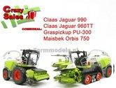 COMBISET-Claas-Jaguar-960TT-Claas-Jaguar-990-PU-300-Orbis-750-1:32-MargeModels-Limited-Edition-SUPERSALE