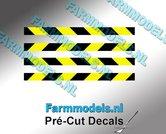Verdrijvingsbord--Verkeer-stickers-ZWART--GEEL-ong.-3mm-x-40mm---Pré-Cut-Decals-1:32-Farmmodels.nl