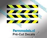 Verdrijvingsbord--Verkeer-stickers-ZWART--GEEL-ong.-4mm-x-40mm---Pré-Cut-Decals-1:32-Farmmodels.nl
