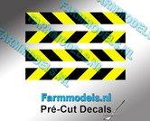 Verdrijvingsbord--Verkeer-stickers-ZWART--GEEL-ong.-5mm-x-40mm---Pré-Cut-Decals-1:32-Farmmodels.nl